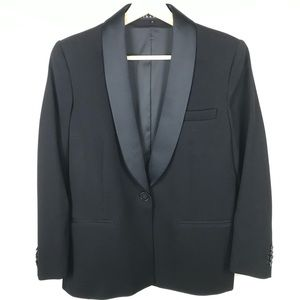 Theory Black Blazer Wool Suit Textured 10